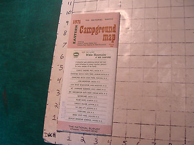 Vintage UNOPENED Map: 1971 the National Survey EASTERN CAMPGROUND MAP