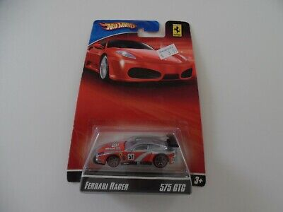Hot Wheels Ferrari Racers 575 GTC #57 silver/ red - rare - package has wear