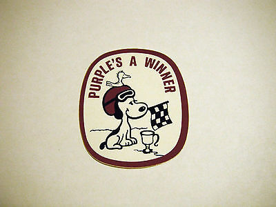 "Vintage NOS Arctic Cat ""Purple's A Winner"" Decal"