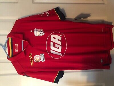 Adelaide United F.C away jersey 2016/17 nwt XL by Macron Australian A league image