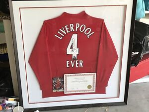 Liverpool S Gerrard signed frame Mernda Whittlesea Area Preview