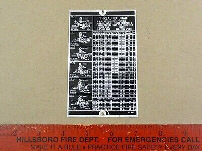 Nice Original Atlas Craftsman 6 618 Lathe Gear Guard Threading Chart M6-99a