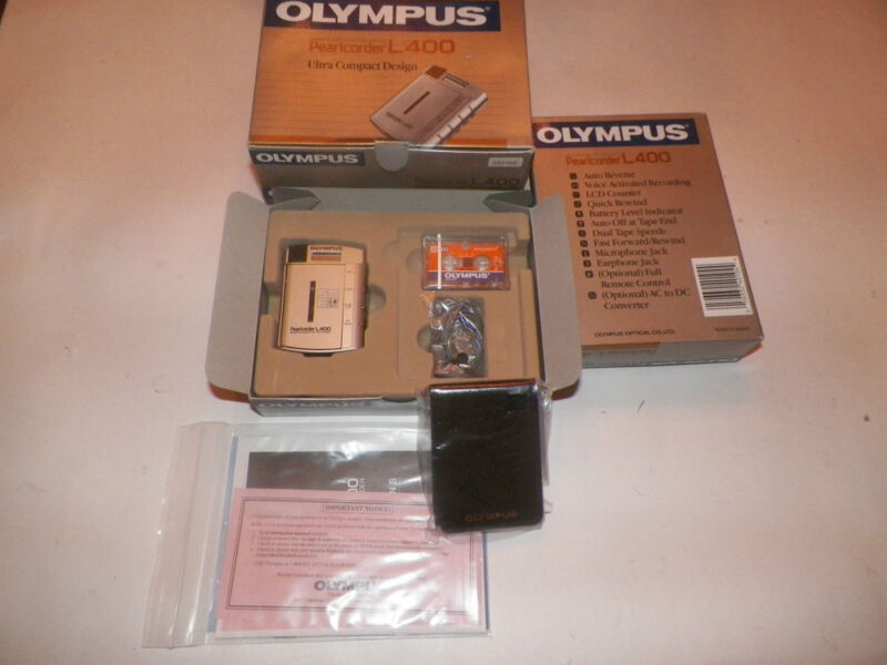 Olympus Pearlcorder L400 Ultra-Compact Microcassette Recorder Kit - BRAND NEW $1
