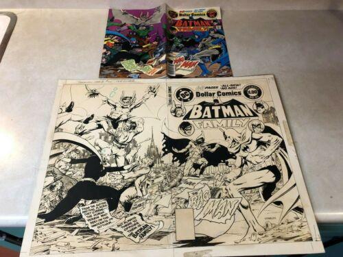 Batman Family #20 original prod cover art STARLIN Ragman MANBAT Batgirl 1978
