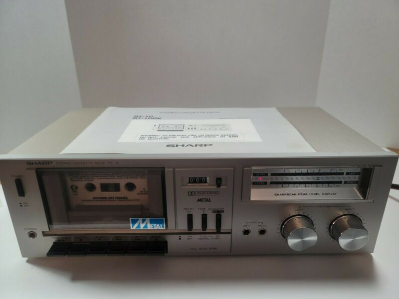 Mint Sharp Stereo Cassette Deck RT-10 Dolby System Metal Perfect Condition WORKS
