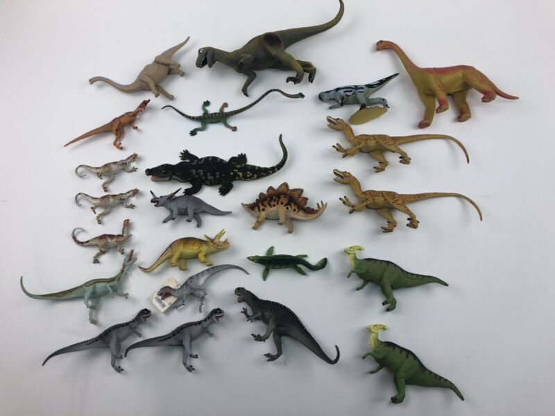 HUGE LOT OF 19+ 80s 90s THE CARNEGIE COLLECTION DINOSAURS TREX RAPTOR More