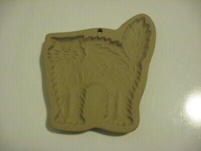 Brown Bag Cookie Art CAT 1988 Ceramic Cookie Mold Vintage Hill Design Halloween