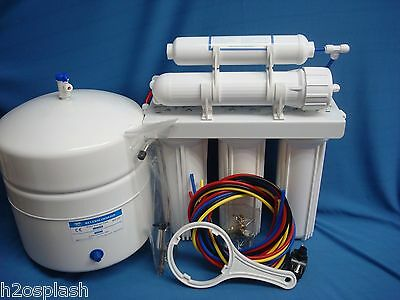 Reverse Osmosis System  5 Stage 100/150  gpd RO Membrane Water Filter White Tank