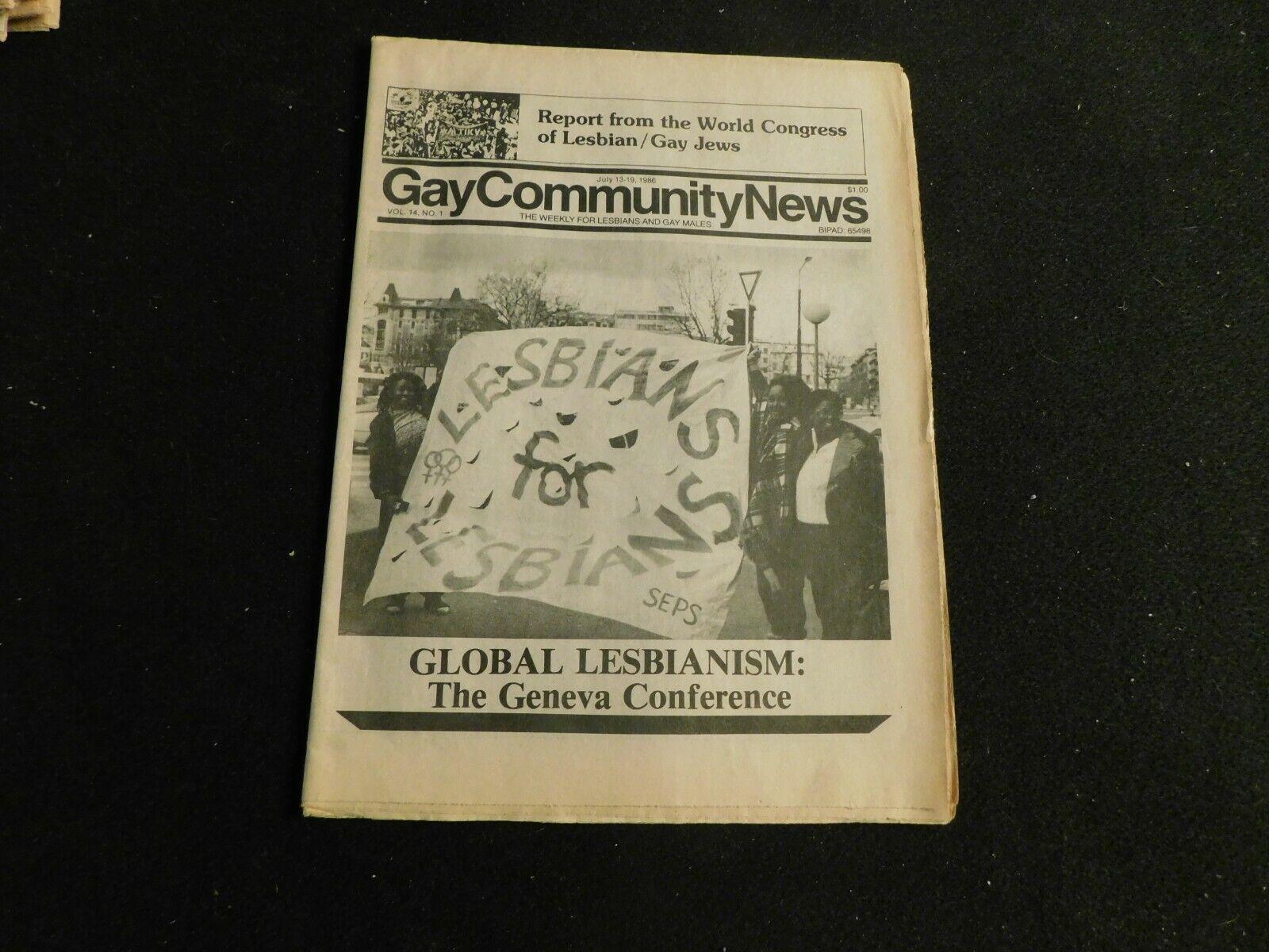 Gay Community News Vol 14 No 1 1986 Gay Newspaper - $9.99
