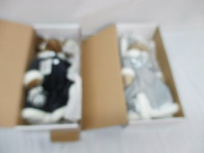 "Cecilia & Sandra 14"" inch The Bearington Collection Bear Dolls in Boxes"