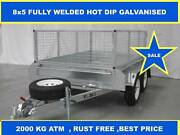8X5 FULLY WELDED HOT DIP GALVANISED TRAILERS 2000 KG GVM on sale Dandenong South Greater Dandenong Preview