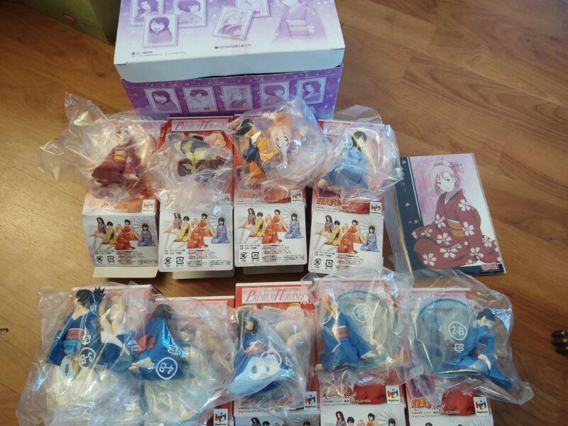 Naruto Premium Heroines Kimono Megahouse Figure Box Set