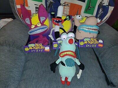 Vintage 1995 Aaahh!!! Real Monsters Plush Oblina Krumm Ickis Nickelodeon NICE!