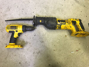 18 volt drill and reciprocating saw
