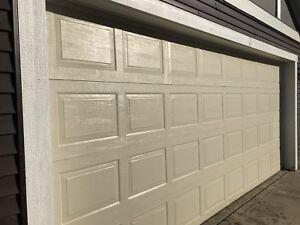 16' wide x 7' high Steel Insulated Garage Door