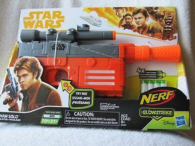 Star Wars Nerf Han Solo Blaster Glowstrike Laser Blast Sounds Scope