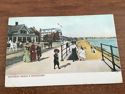 For sale Winthrop, BEACH Massachusetts - Crest Avenue Blvd, Winthrop Beach Postcard
