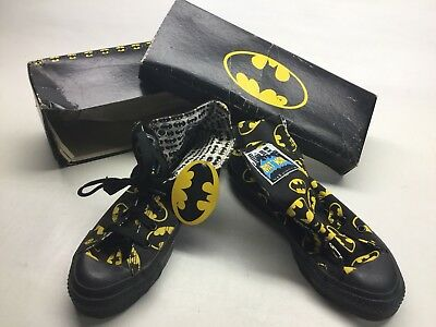 Vintage NOS 1989 Converse Batman DC Comics Hi Top Sneakers 5 1/2