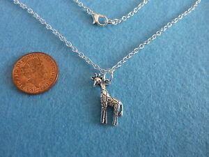 Giraffe necklace ebay tibetan silver giraffe charm pendant necklace 18 aloadofball Choice Image