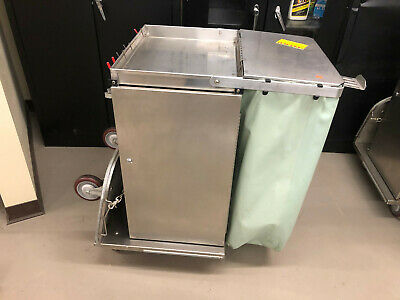 Royce Rolls F30 Stainless Steel Janitorial Cart Wfolding Base Nice 2