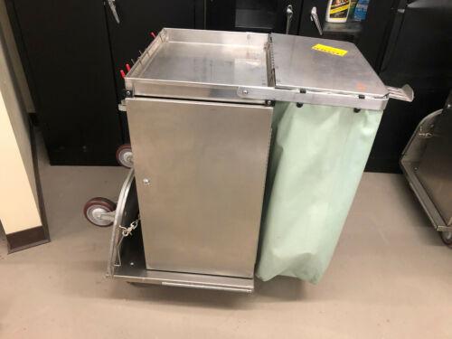 Royce Rolls F30 stainless steel janitorial cart w/folding base nice #2