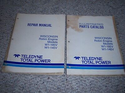 Wisconsin Robin Engine Repair Illustrated Parts Manuals For W1-185v W1-145v