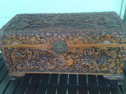 Carved  chest, retro/vintage