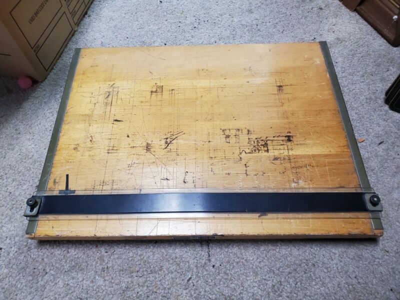 "Vintage Mayline Portable Drafting Table With Parallel Straightedge 26"" X 21"""