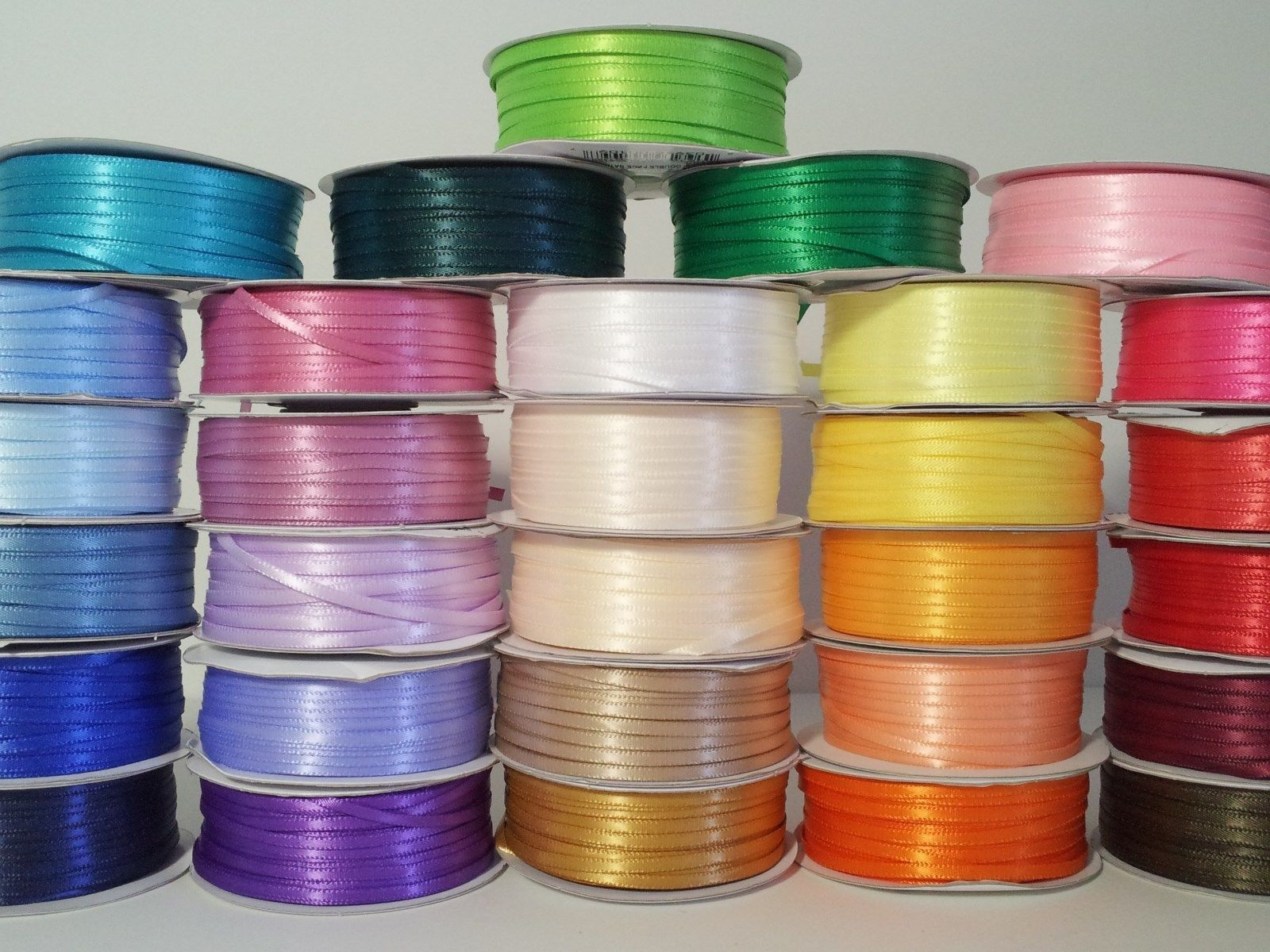 "1/8"" X 100 Yard Double Faced Satin Ribbon Art & Sewing Party"