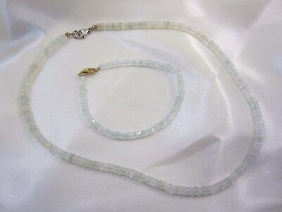Schmuckset aus Aquamarin Armband & Collier