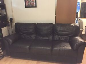 Good condition Leather sofa. SMOKE FREE HOME!