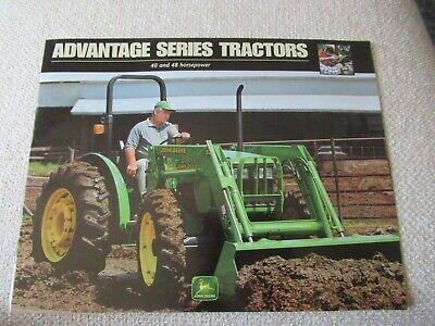 John Deere 5105 5205 Tractor Brochure 12 Pages