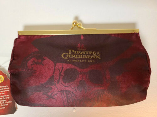 NWT DISNEY PIRATES of the CARRIBEAN Coin Purse Clutch Wallet Bag * At Worlds End