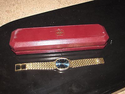 "PATEK PHILIPPE ""Golden Ellipse"" Men Watch 18K Gold Heavy 96 grams 3738 Blue 34mm"