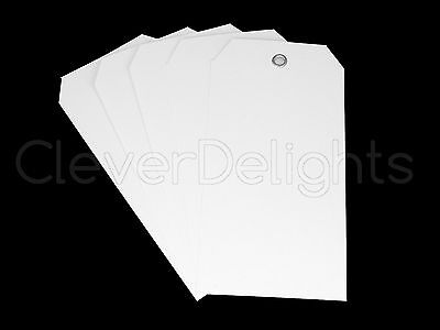 100 White Plastic Tags - 4.75 X 2.375 - Tearproof - Inventory Id Price Tags