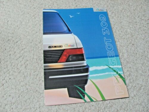 "1990 PEUGEOT 309 ""CHORUS"" SALES BROCHURE...."