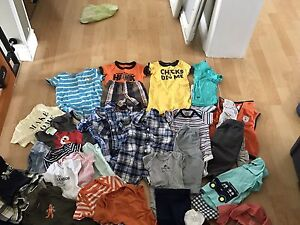 Large lot of baby boy clothes.