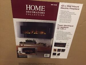 42 inch wall mounted electric fireplace