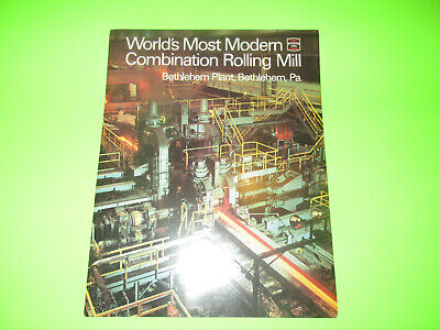 Vintage Bethlehem Steel Bethlehem Pa. Plant Booklet Brochure