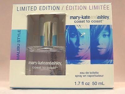 MARY-KATE AND ASHLEY COAST TO COAST - MALIBU STYLE - EDT - 1.7 OZ. - NEW IN (Mary Kate And Ashley Style)