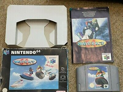 BOXED WAVE RACE 64 for the Nintendo 64 Working COMPLETE with manual Free P&P