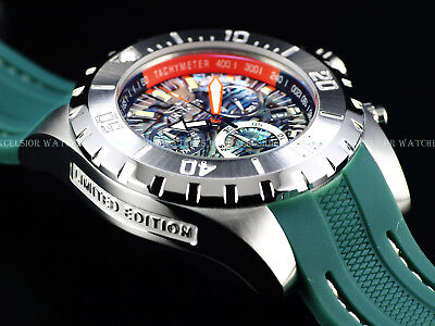 "NEW Invicta 52mm "" OCEAN MASTER "" Ltd Ed Swiss Chronograph Abalone Dial SS Watch"