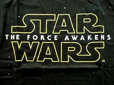 Damen T-Shirt STAR WARS Force awakens Logo schwarz NEU Gr. M Jedi Sith Imperium
