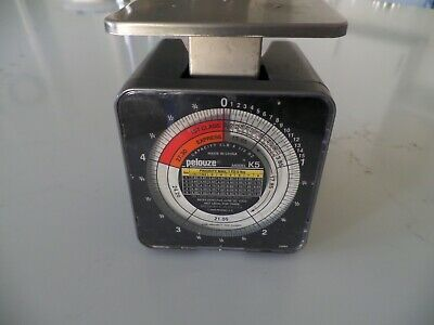 Vintage Pelouze Model K5 5lb Postal Kitchen Scale 1oz Increments 2002 Usps Rates