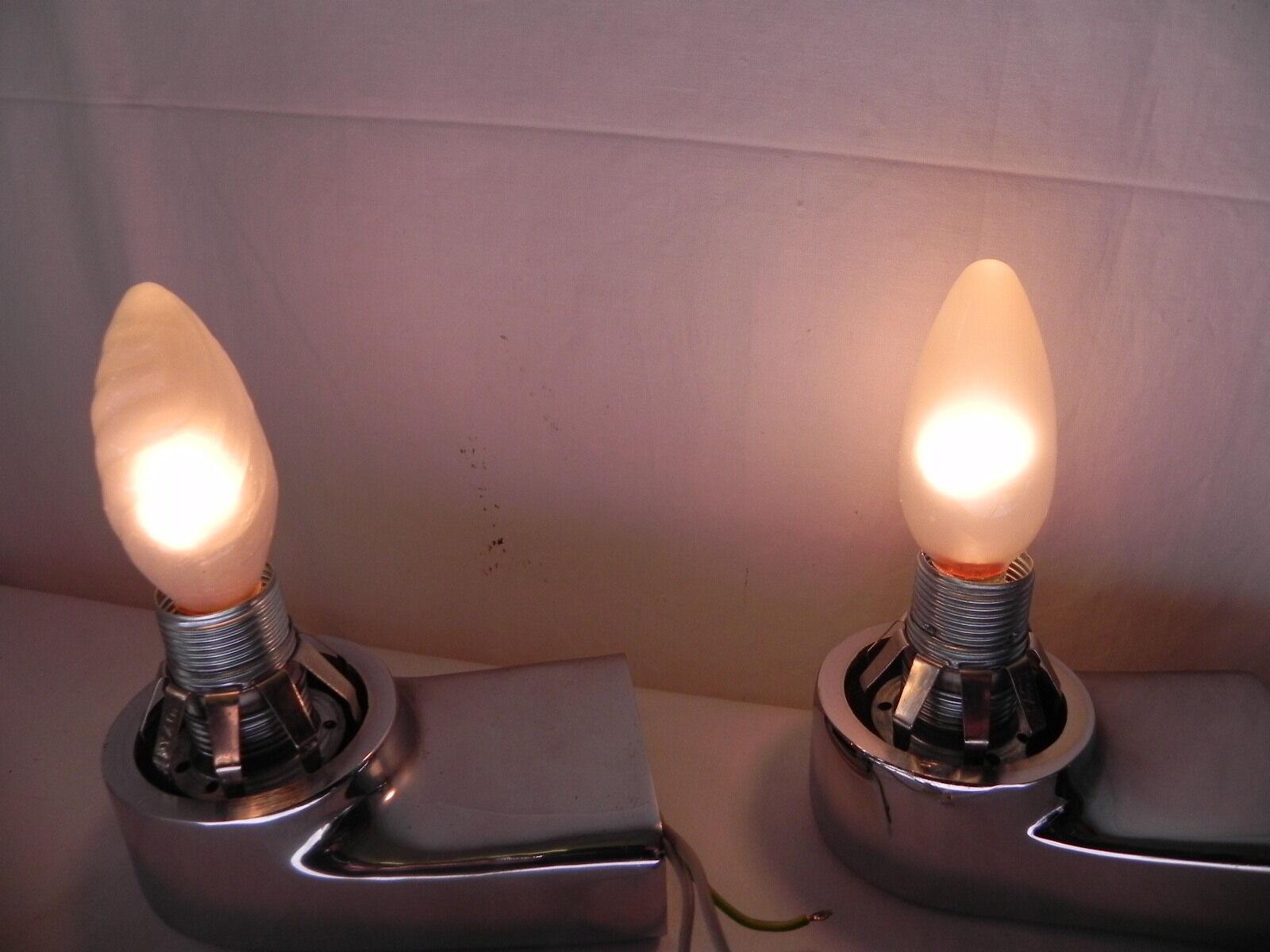 paar wandleuchte wandlampe badleuchte lampe leuchte badezimmer chrom glas a52 eur 50 00. Black Bedroom Furniture Sets. Home Design Ideas
