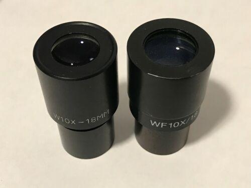 Set of 10x eyepieces, unknown manufacturer