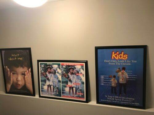 Chiropractic Children Pediatric Kids Posters Rare