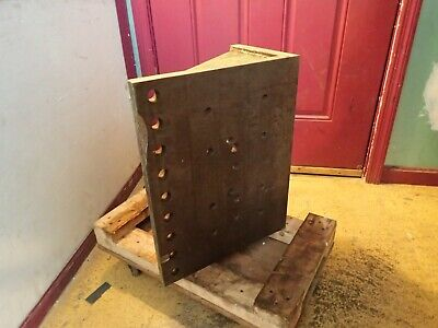 20 X 16 X 9-58 Steel Right Angle Mill Milling Set-up Fixture Plate Used Good