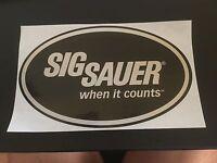Mini-Sticker Original Sig Sauer Safe Action Pistol Sportschiessen Schützensport