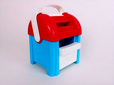 Fisher Price mailbox sort N stack kids toy colorful plastic red white blue 1989